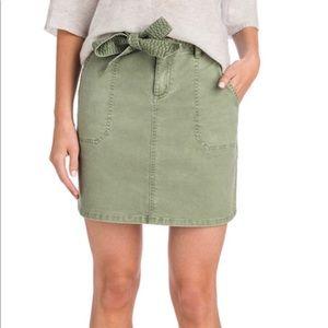 Vineyard Vines Utility Tie Waist Skirt Sage Olive